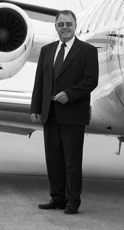 Don on site with plane