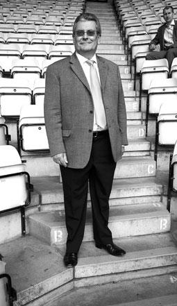Martin Bonser at football stadium